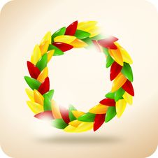 Free Paprika Wreath Royalty Free Stock Photography - 19872567