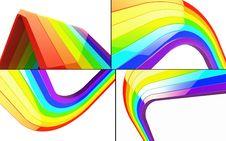 3d Rainbow Set Royalty Free Stock Photos