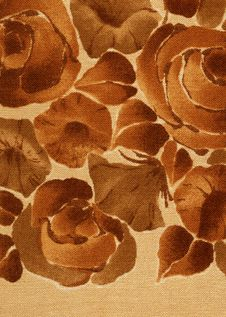 Free Flowered Pattern: Brown. Stock Image - 19873101