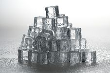 Free Wet Ice Cubes Objects Stock Photo - 19873290