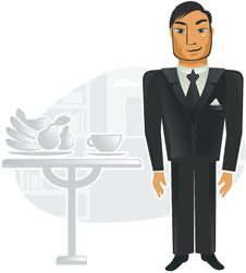 Free Man In Office (vector) Royalty Free Stock Images - 19873449