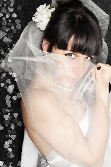 Free Bride It Covered Face Stock Photography - 19873462