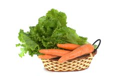 Vegetables In Basket Royalty Free Stock Photo