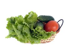 Free Vegetables In Basket Royalty Free Stock Images - 19873669