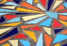 Multicolor Floor Mosaic Stock Image