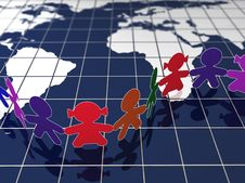Free Children In Map Royalty Free Stock Photo - 19873895
