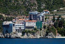 Free Grigoriou Monastery Royalty Free Stock Image - 19873906
