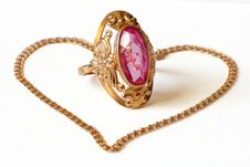 Free Golden Ring And Bracelet Stock Photos - 19873913
