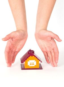 Free Hands And Little House Royalty Free Stock Image - 19873976