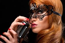 Free Gorgeous Redhead Singer Stock Photography - 19874062