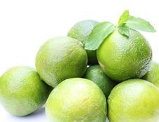 Free Fresh Limes With Mint Royalty Free Stock Photography - 19874707