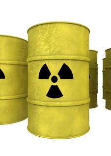 Free Yellow Nuclear Waste Barrel Royalty Free Stock Image - 19874726