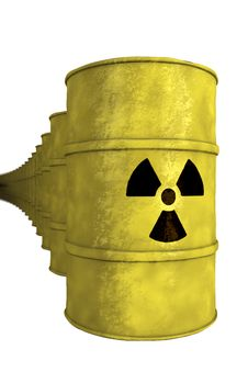 Free Series Of Nuclear Waste Barrel Stock Images - 19874754