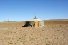 Yurt In Mongolia Stock Photography