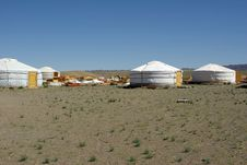 Free Yurt Camp In Mongolia Stock Image - 19875061