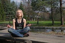 Free Meditation At Japanese Garden Royalty Free Stock Photos - 19875088