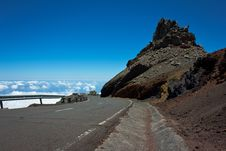 Road To The Mountain Top Royalty Free Stock Photography