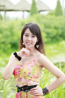 Free Asia Summer Girl Outdoor Stock Photography - 19875322
