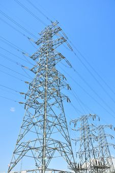 Free High-tension Line And Transformer Stock Images - 19876364