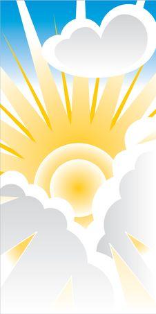 Free Sun Breaking Through Clouds Royalty Free Stock Photo - 19877195