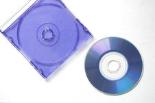 Free Blue Box And Blue Cd Royalty Free Stock Image - 19877306