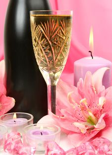 Free Wine And Candles Stock Image - 19877851