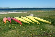 Free Kayaks Ready To Sail - Sea Sport Background Stock Photo - 19878020