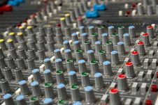 Free Sound Mixing Console Royalty Free Stock Photos - 19878078