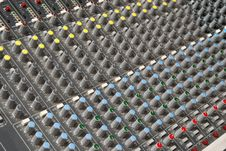 Free Sound Mixing Console Royalty Free Stock Image - 19878106
