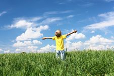 Free Little Boy Outdoors Stock Photo - 19878180