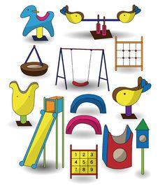 Free Cartoon Park Playground Icon Stock Image - 19878531