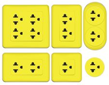 Free Yellow Electrical Outlet Stock Image - 19879791