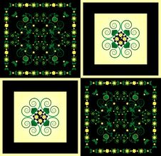 Free Pattern With Flower On Square Background Royalty Free Stock Image - 19879796