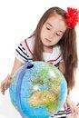 Free Girl With Globe Stock Photos - 19881313