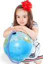 Free Girl With Globe Stock Images - 19881334