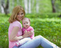 Free Mother And Daughter In Birch Spring Park Royalty Free Stock Photography - 19884707