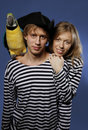 Free Couple Of Sailors With Parrot Stock Photos - 19887303