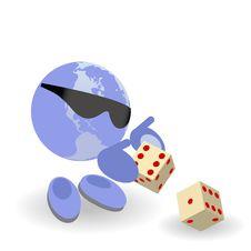 Free The Round Man Play Dice Stock Image - 19880081