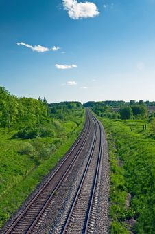 The Railway Royalty Free Stock Photography