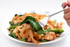 Stir-fried Noodles Royalty Free Stock Photos