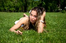 Free Beautiful Young Woman On Field In Summer Stock Photo - 19880510