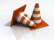 Free Orange Road Cones Stock Image - 19880511