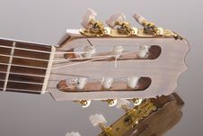 Guitar Fretboard On The Mirror Surface Royalty Free Stock Photos
