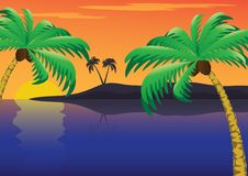 Free Tropical Sunset Royalty Free Stock Images - 19882529