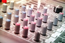 Free Sound Mixer In Studio Stock Images - 19882814