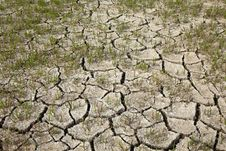 Cracked Soil In Dry Season Stock Photo