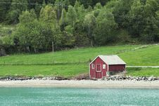 Free Typical Norwegian Boathouse Royalty Free Stock Photo - 19882885