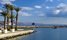 Free View On Marina And Northern Beach Of Eilat, Israel Stock Photo - 19884030