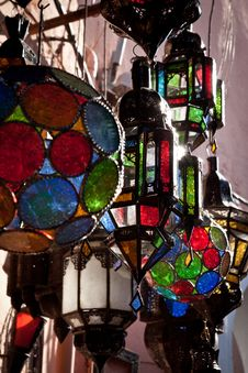 Free Stained Glass Lamps Royalty Free Stock Photo - 19884095
