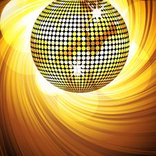 Free Sparkling Disco Ball And Swirl Royalty Free Stock Photography - 19884257
